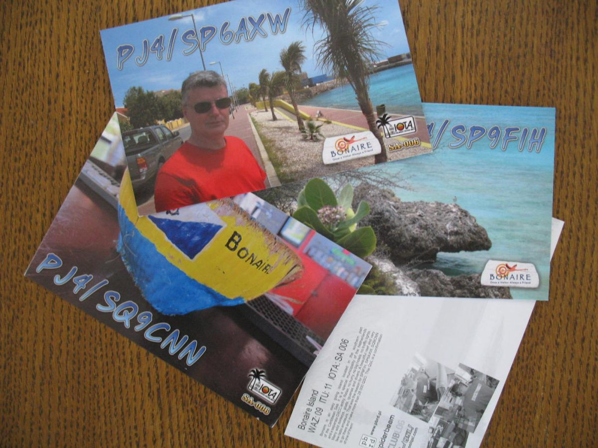 PJ4 expedition QSL cards